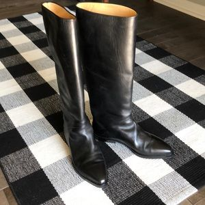 Joan & David Couture Leather Riding Boots